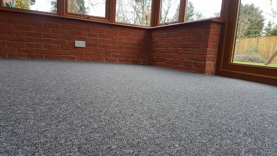 carpet fitted in a conservatory