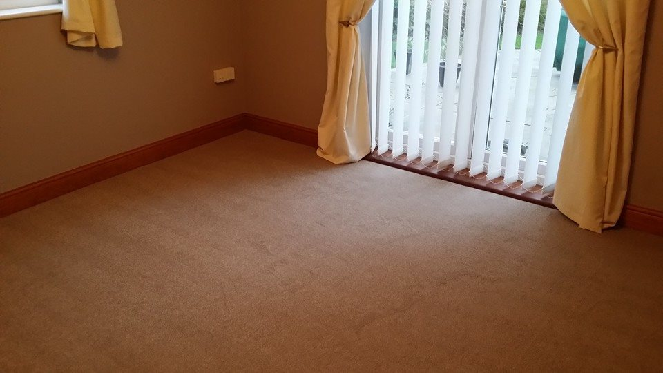 carpet laid near french doors