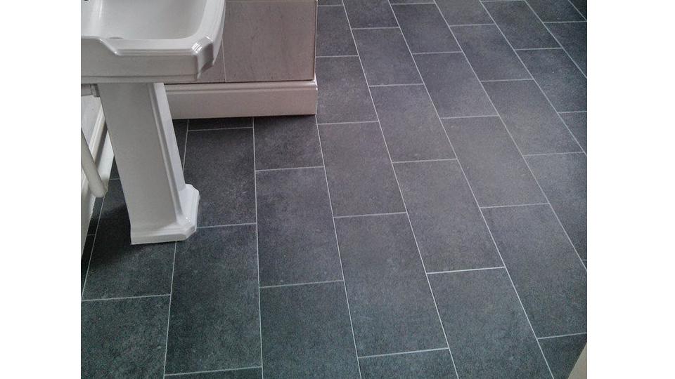 slate effect bathroom floor