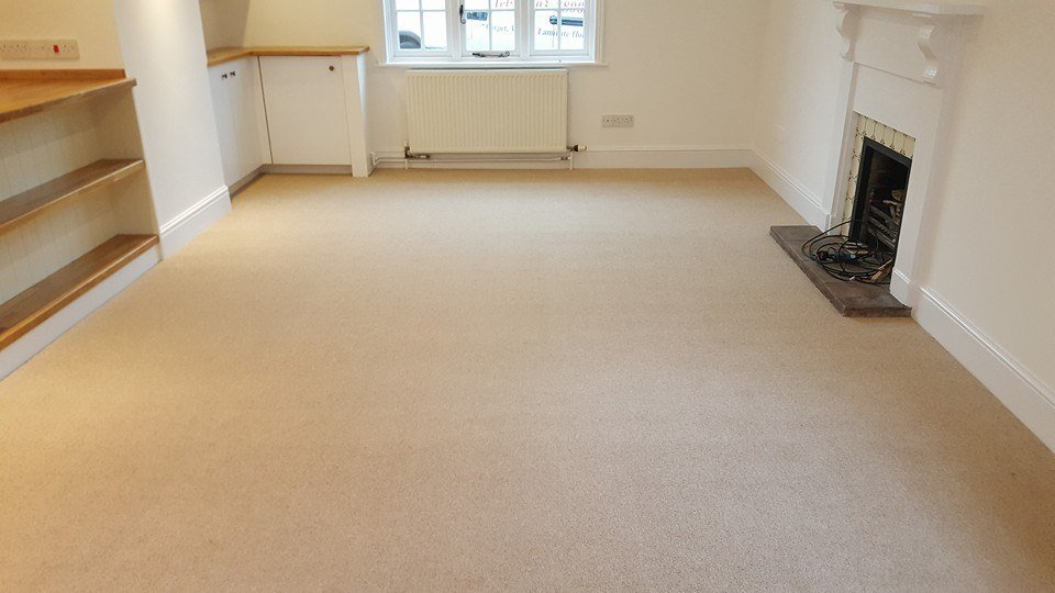 pale carpet in a living room